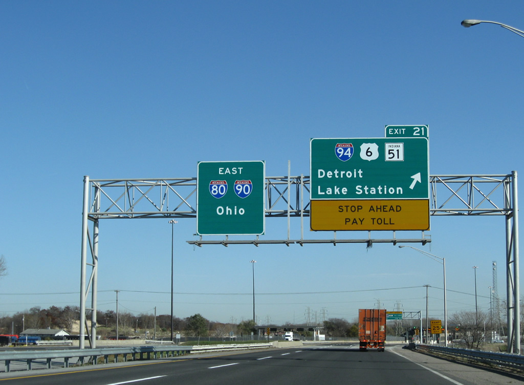 Interstate 90 East - Chicago Skyway to Lake Station