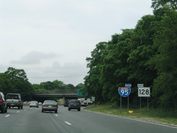 Interstate 95 South - Peabody to Norwood - AARoads - Massachusetts