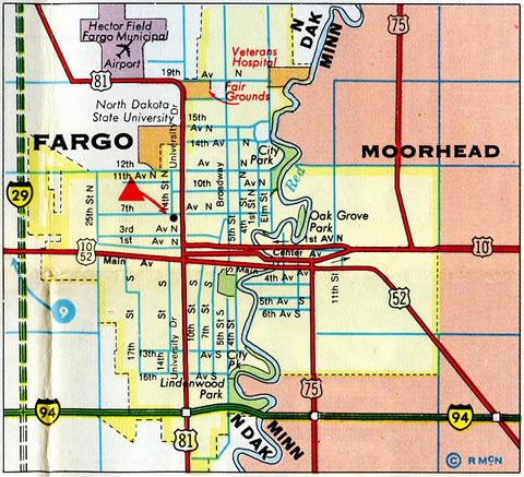 North Dakota AARoads US Highway Business Loop Interstate - 1967 interstate highway map us