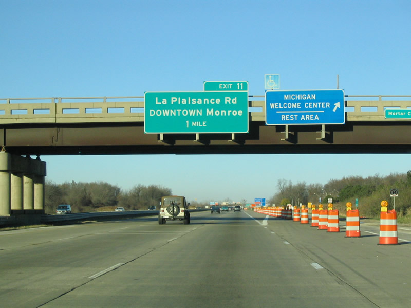 Michigan Aaroads Interstate 75 North Ohio To Detroit