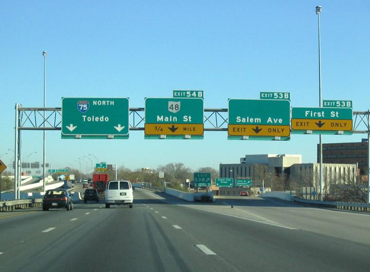Ohio Aaroads Interstate 75 North Dayton Area