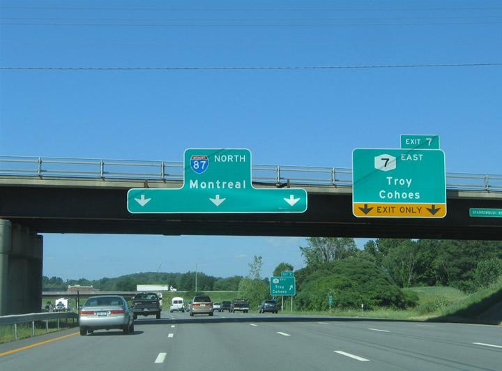 New York @ AARoads - Interstate 87 / Adirondack Northway