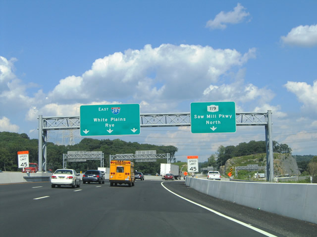 Map Of Route 684 In New York.New York Aaroads Interstate 287 Cross Westchester Expressway