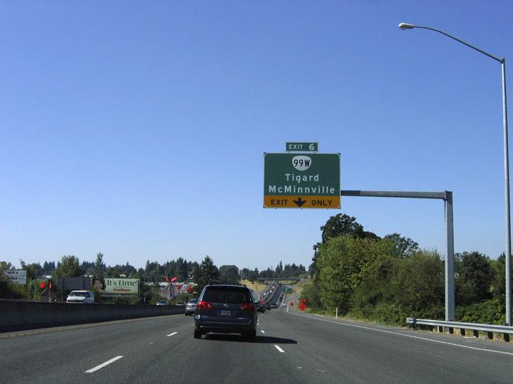 Route 217 North - Beaverton-Tigard Freeway - AARoads - Oregon