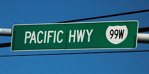 error Interstate 99W in Oregon