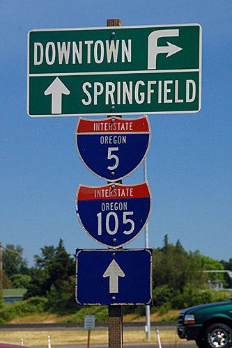 old Oregon Interstate 5 and Interstate 105