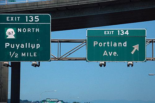 Interstate 5 at Washington 167, former Washington 410, US-410