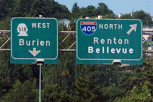 Interstate 5 at Washington 518 and Interstate 405