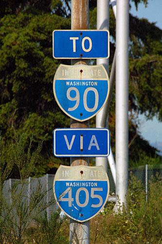 Interstate 90 and Interstate 405