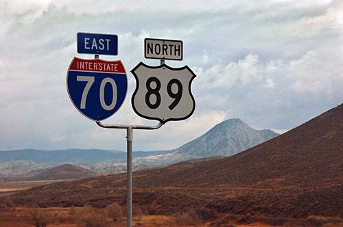 Utah interstate 70, Utah U. S. highway 89