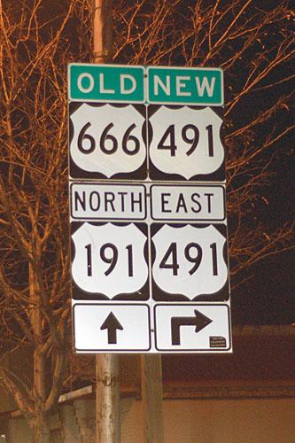 Utah U. S. highway 666, Utah U. S. highway 491, Utah U. S. highway 191