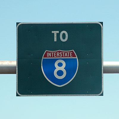 Arizona U. S. highway 95, Arizona interstate highway 8
