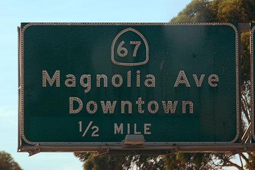 California U. S. highway 80, California interstate highway 8, California state route 67