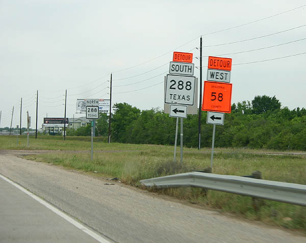 Texas Aaroads Texas State Highway 288 North Sh 36 To
