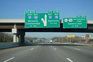 Interstate 40 West - Nashville / Davidson County - AARoads