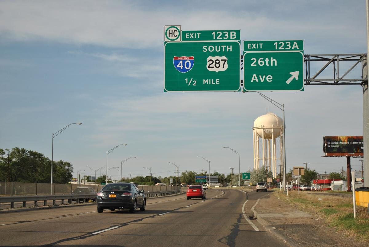Interstate 27 North Amarillo Aaroads Texas Highways