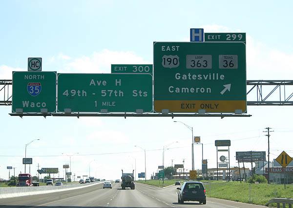 Interstate 35 North - Bell County - AARoads - Texas Highways