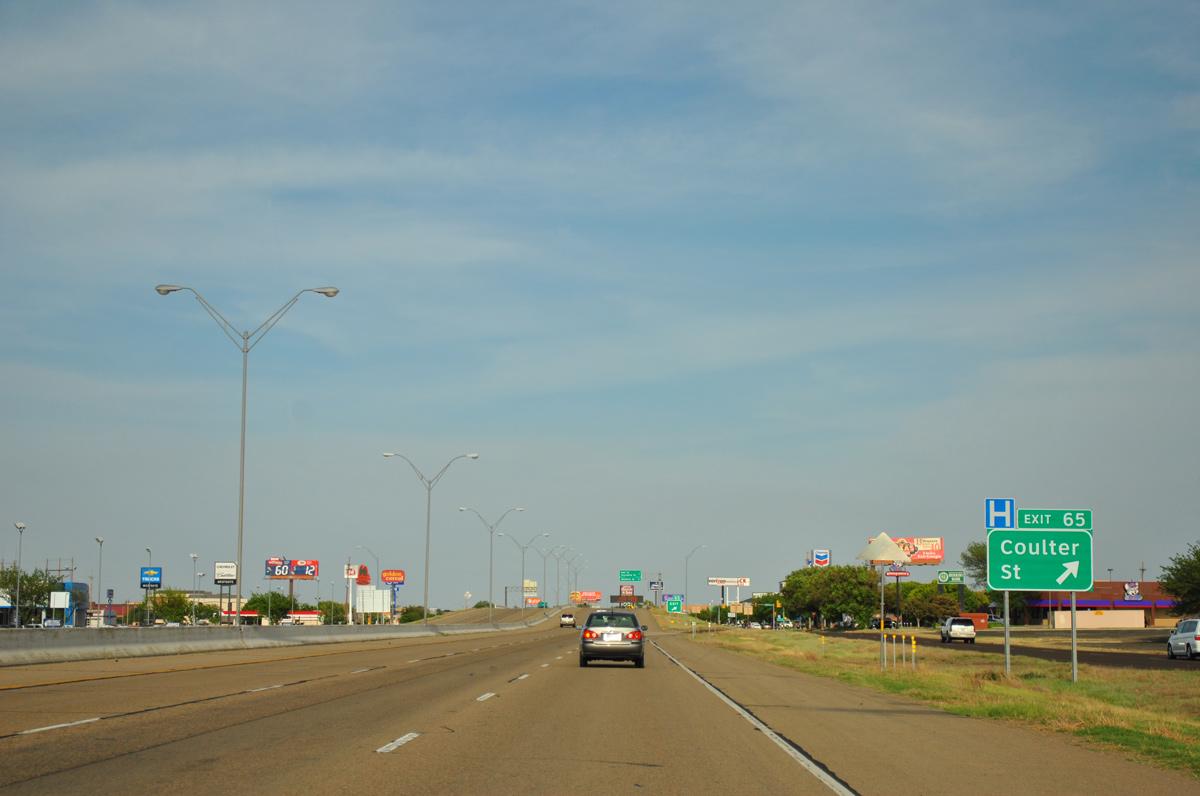 Interstate 40 East Potter County Aaroads Texas Highways