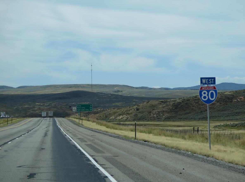 Interstate 80 West Wyoming To Echo Aaroads Utah