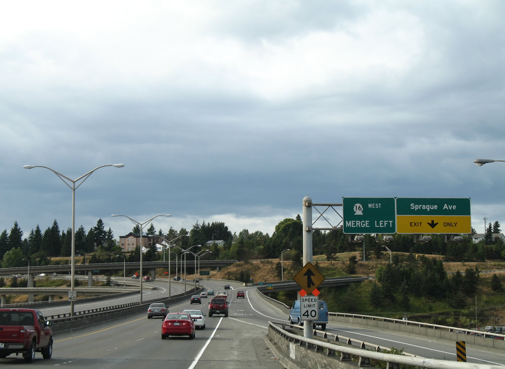 State Route 16 West Aaroads Washington
