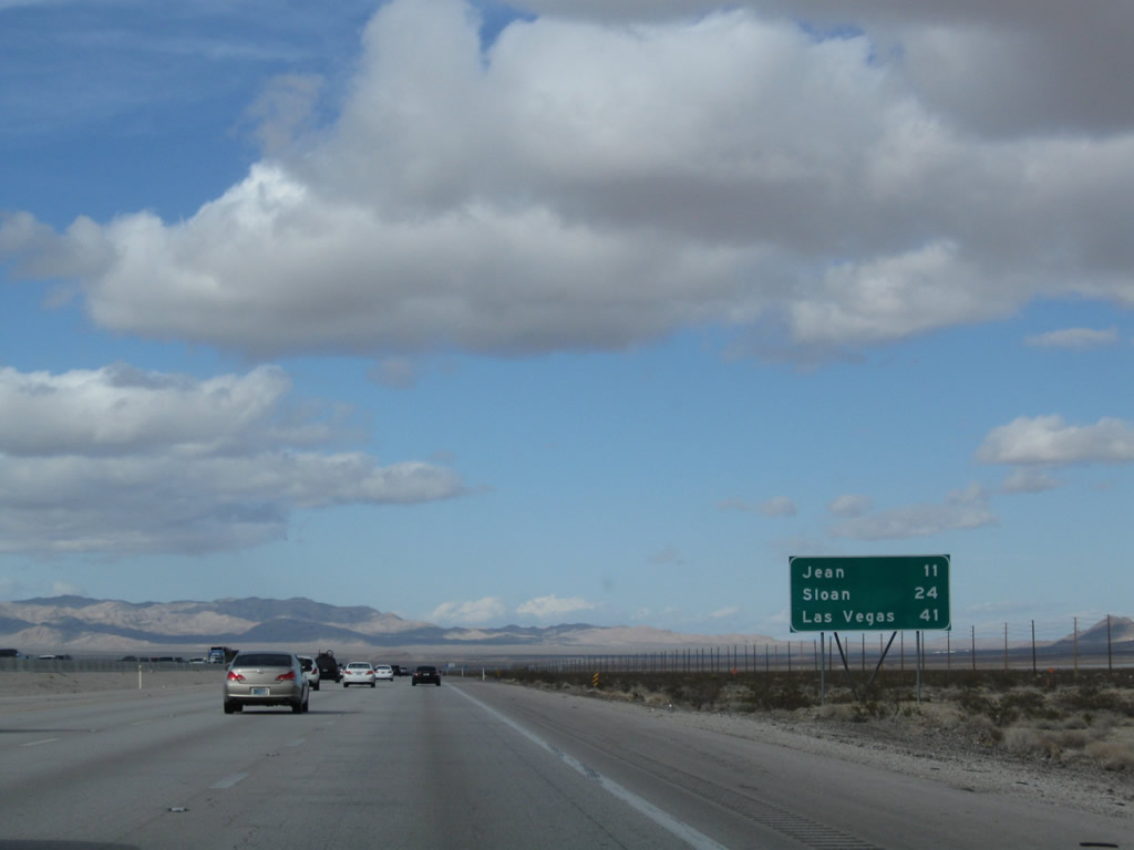 nevada aaroads interstate 15 north from primm to las vegas. Black Bedroom Furniture Sets. Home Design Ideas