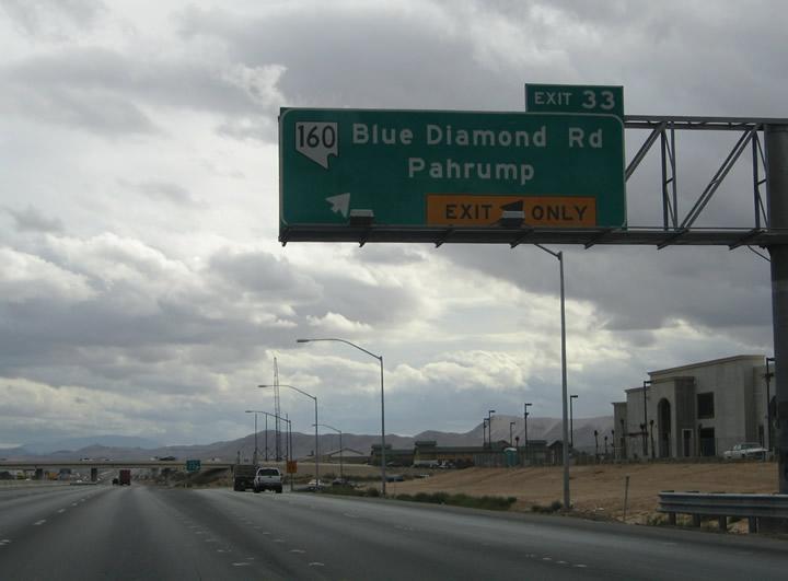 Pahrump To Las Vegas >> Nevada @ AARoads - Interstate 15 Southbound (Las Vegas to ...