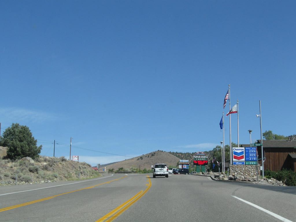 Nevada aaroads u s 395 north topaz lake to minden for Topaz lake fishing