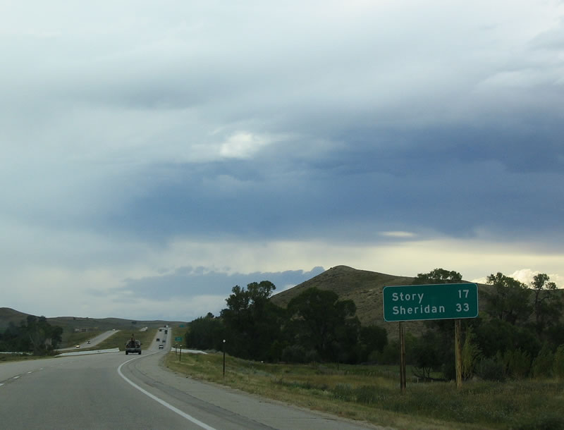 Wyoming Aaroads Interstate 90 Westbound In Johnson