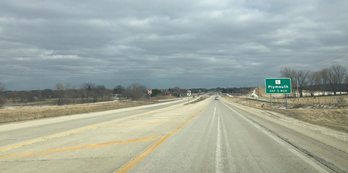 State Trunk Highway 23 East Sheboygan County Aaroads