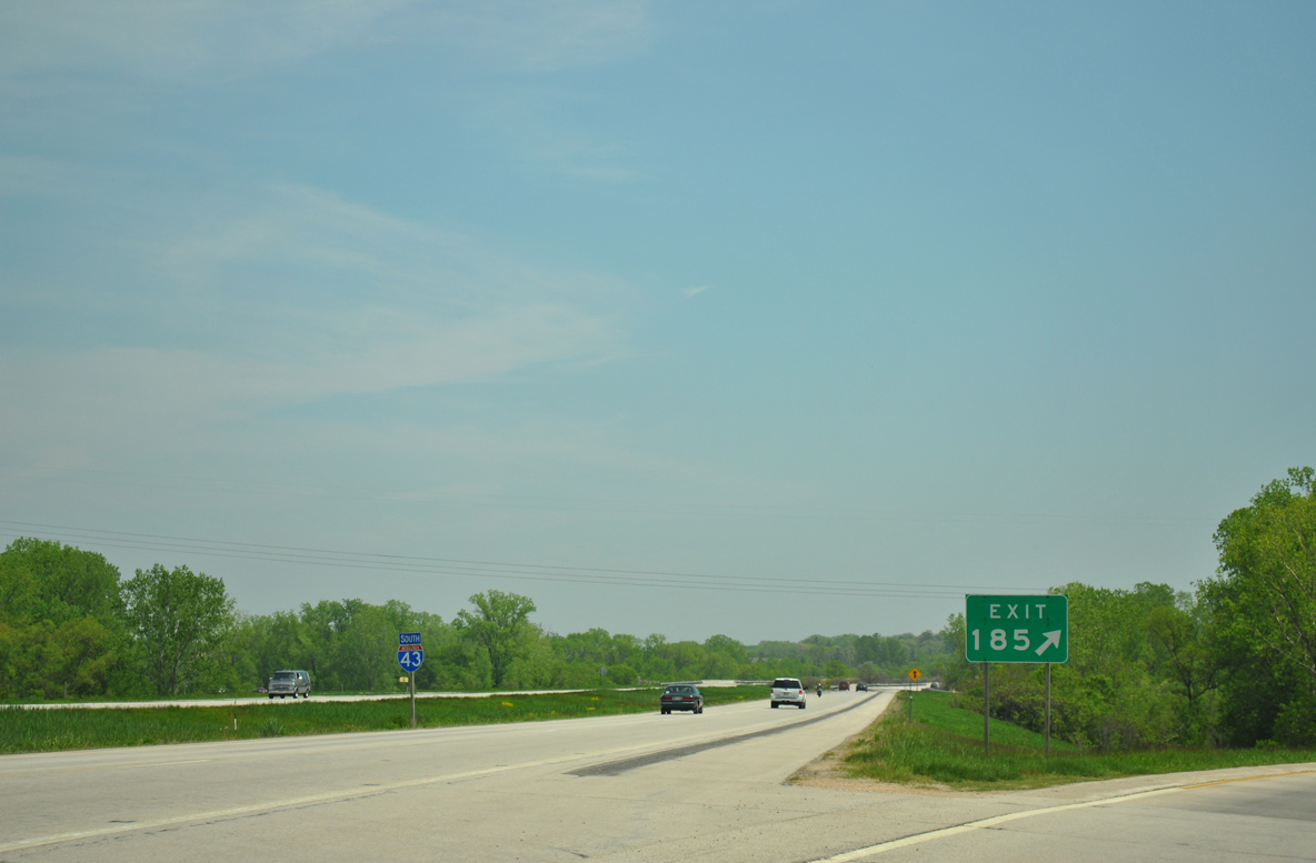 Interstate 43 South Brown County Aaroads Wisconsin