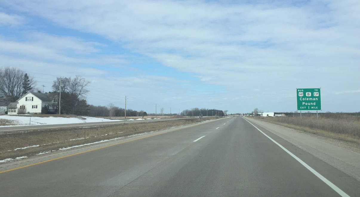 U S 141 North Abrams To Crivitz Aaroads Wisconsin