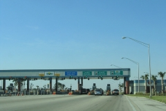 North at HEFT mainline toll plaza