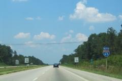 Vintage shield north of Exit 77