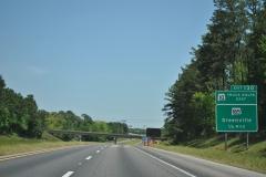 1/2 mile ahead of Exit 130