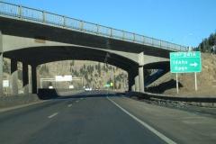 I-70 east at Idaho Springs