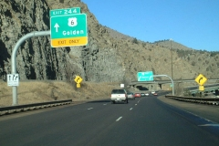 I-70 east at Exit 244