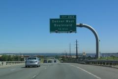 I-70 east ahead of SH 72