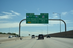 I-70 east ahead of I-76 / SH 121