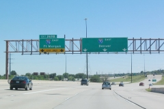 I-70 / 76 eastbound split
