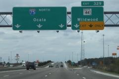 North at SR 44 / Exit 329