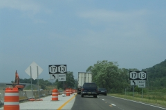 I-86 construction at NY 13