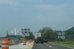 I-86 construction at NY 13