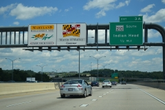 I-95/495 north ahead of MD 210