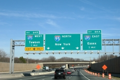 I-95 at I-695 - old configuration