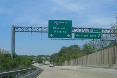 I-476 north at Exit 1
