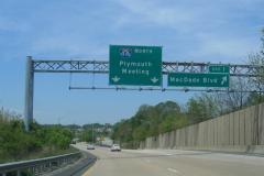 I-476 north at Exit 1