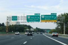 North at VA 123 east