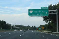 North at VA 123 west