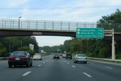 Mileage sign ahead of VA 7