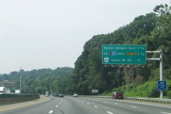Mileage sign ahead of I-66